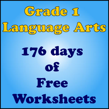 Grade 1 Language Arts 176 days of Free Worksheets