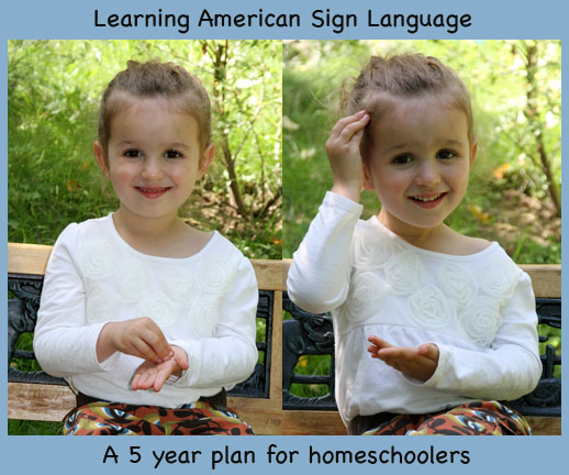 Learning American Sign Language Curriculum for Homeschooling