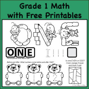 Grade 1 Math: Number One