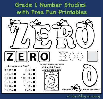 Math Worksheets Plus Zero