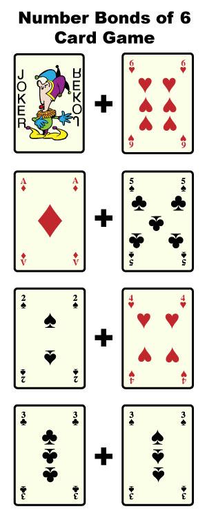 number bonds of 6 card game