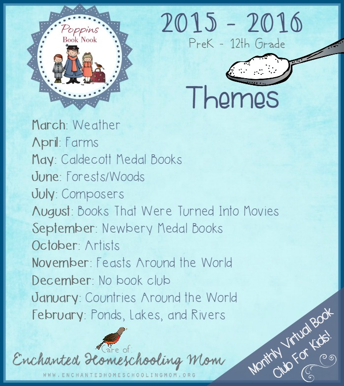 Poppins Book Nook Themes for 2015 - 2016