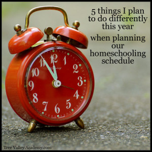 Planning your Homeschooling Schedule
