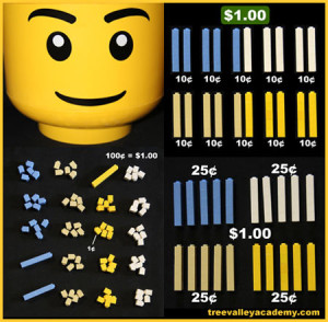 LEGO math. Teaching kids about money with LEGO.