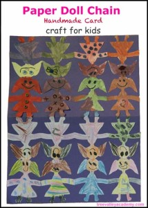 The Hundred Dresses Activity – Paper Doll Chain Card