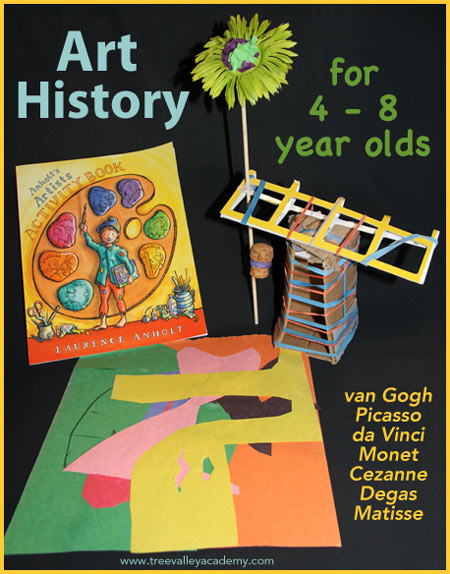 teaching art history to kids. Ideal for 4 - 8 year old children.