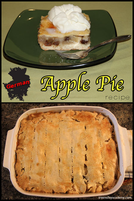 German Covered Apple Pie Recipe