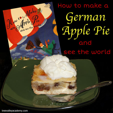 "Book based activities to go along with the book ""How To Make An Apple Pie And See The World"".  A recipe for a delicious german apple pie. #appleunit #apples #bookbasedactivities #appleactivity #fall #homeschool #applepie #appletheme #treevalleyacademy"