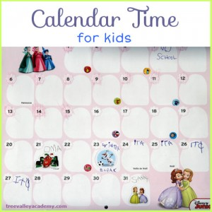 Calendar Time – Great Way for Kids to Learn to Read a Calendar
