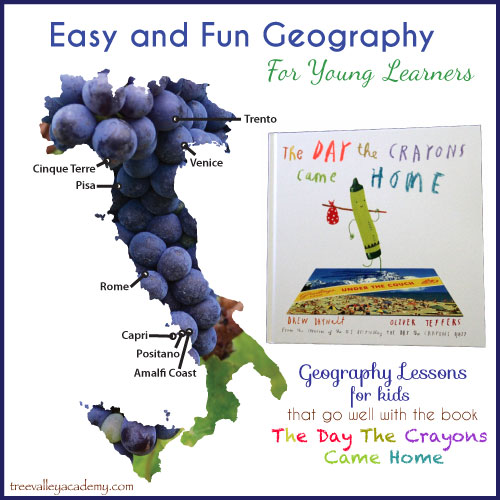 Easy and Fun Way to Teach Geography To Kids. Geography Lessons For Kids go well with the book The Day The Crayons Came Home.