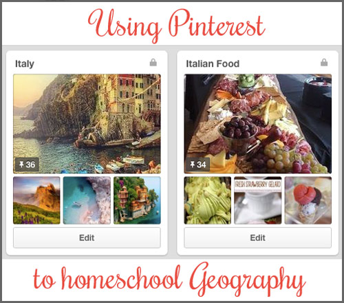 Using Pinterest to homeschool Geography