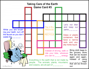 Earth day crossword puzzle kids 3 tree valley academy beginner level crossword puzzle for kids free printable earth day vocabulary ccuart Image collections