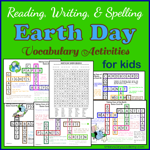 Earth Day Vocabulary Learning Activities