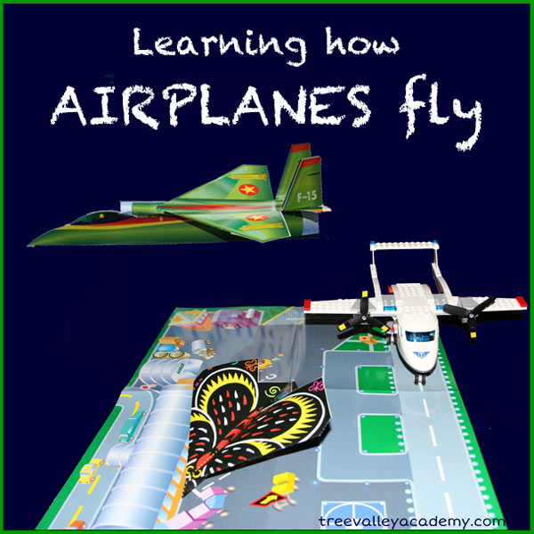 Learning how airplanes fly for kids.