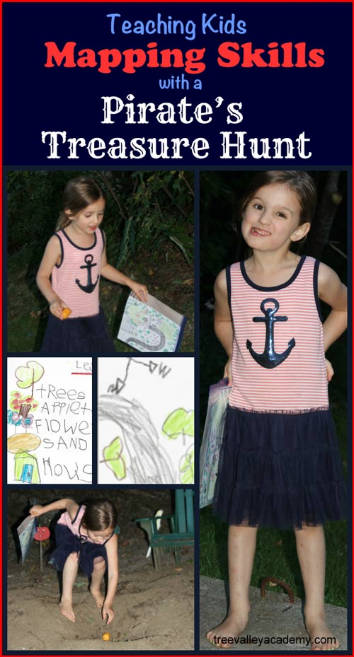 How to Teach Kids Mapping Skills With A Pirate's Treasure Hunt.