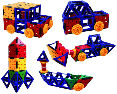 Toys for Kids that like to build: Klikko with math and STEM activities.