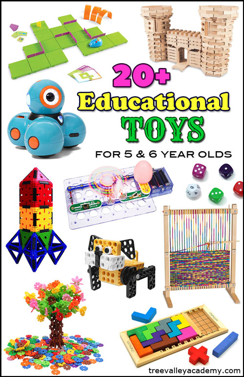 Educational Toys Gift Guide for Kindergarten & Grade 1 students (5 & 6 year olds).