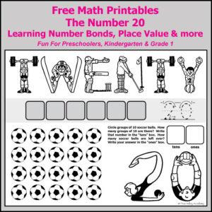 Number Bonds to 20 Free Math Worksheets