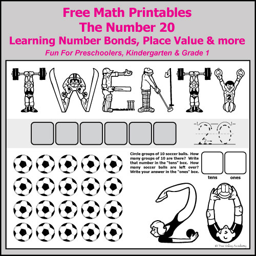 Number Bonds To 20 Free Math Worksheets