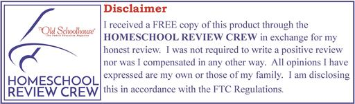 Homeschool Review Crew Disclaimer