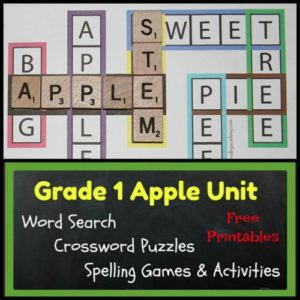 Apple Themed Spelling Activities for Grade 1