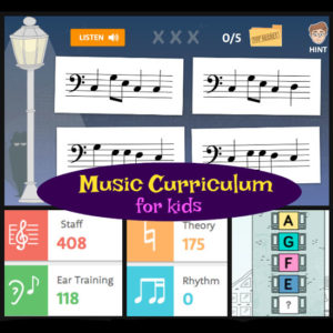 Music curriculum for kids. A review of Hoffman Academy 2.0. Video lessons, printable worksheets, mp3 practice tracks, and online games that teach piano and music. A great option for homeschoolers who wish to learn music.