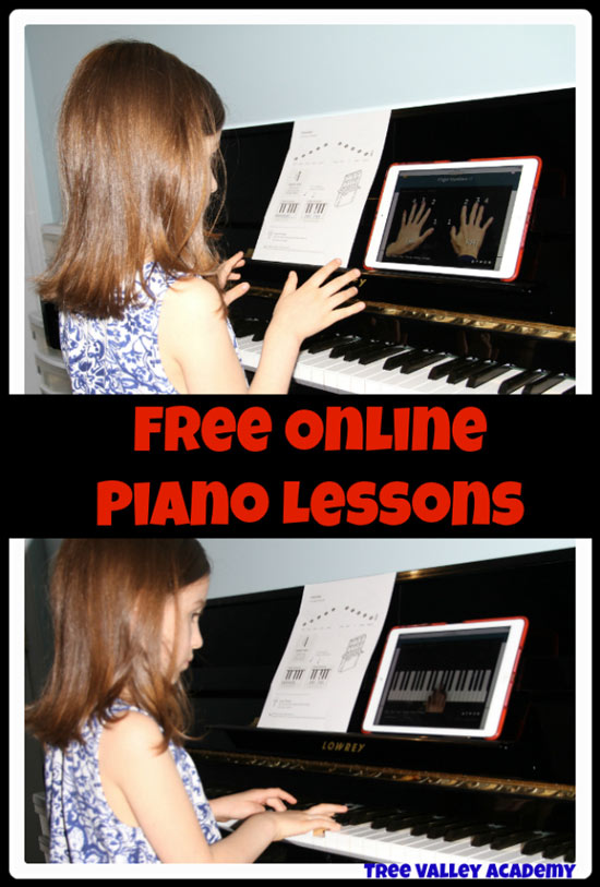 Free online piano lessons for kids. A great option for a homeschool music curriculum.