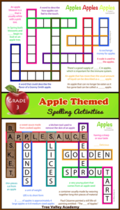 Apple Themed Spelling Activities For Grade 3