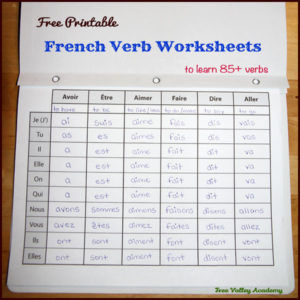French Verb Worksheets