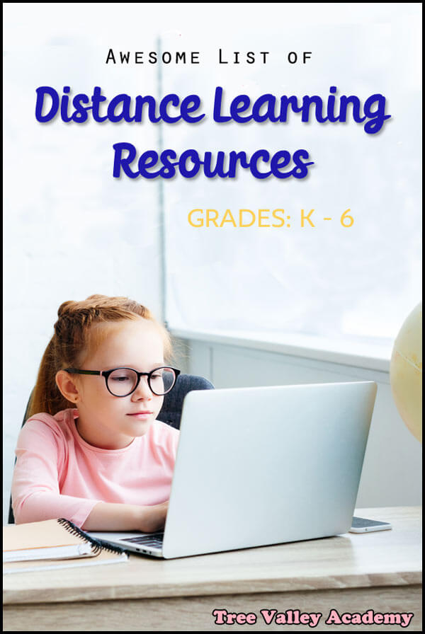 Great list of distance learning resources for elementary students from preschool to 6th grade.     Sorted by subject, only the best programs made the list. Many are free. #homeschooling #K-6