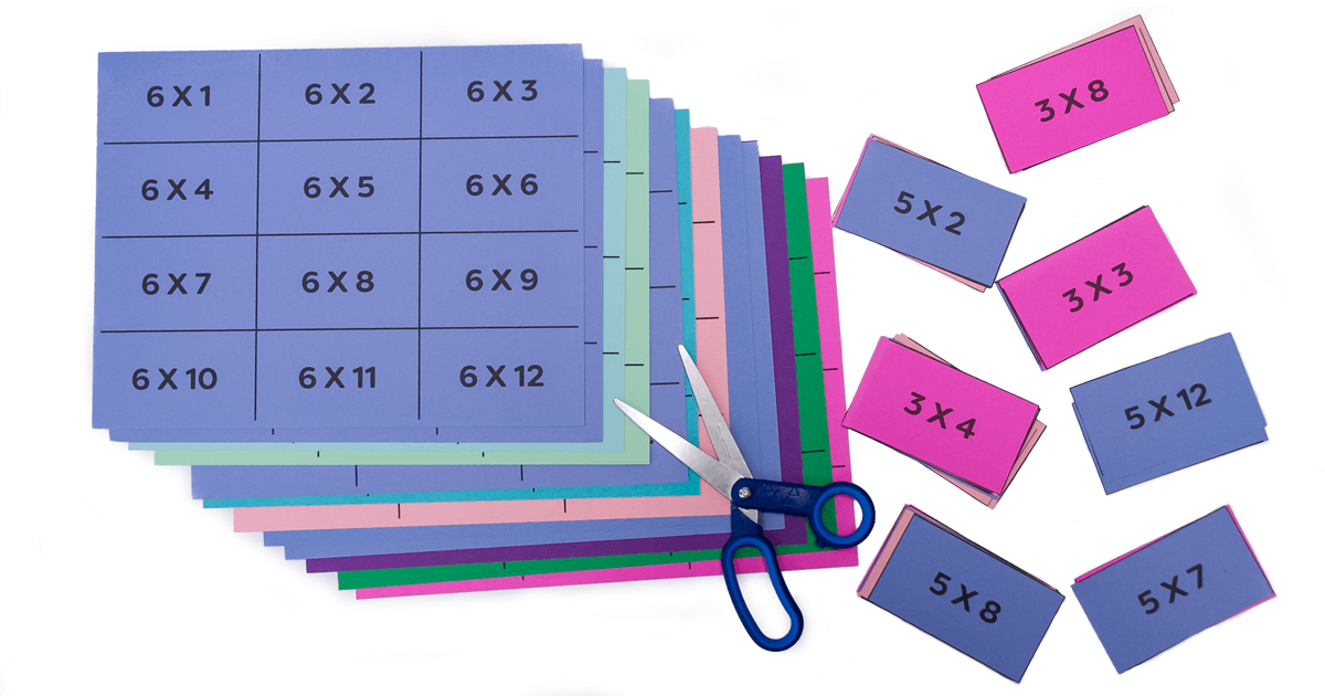 Times Tables Flash Card Game by Colourful Learning