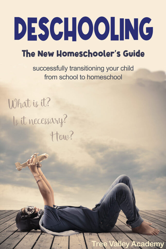The new homeschooler's guide to Deschooling. How to successfully transition your child from school to homeschool. A mother follows her 3 children on a hike.  She is able to carefully observe each of her children to figure out how each of them learns best.